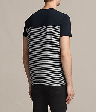 Mens Breton Tonic Crew T-Shirt (INK NAVY/CHALK) - product_image_alt_text_3