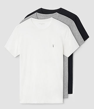 Mens Tonic Crew T-Shirt 3 Pack (CHLK/JETBLK/GRYMRL) - product_image_alt_text_1