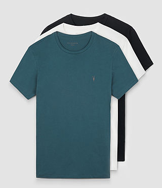 Men's Tonic Crew T-Shirt 3 Pack (BLUE/WHITE/BLACK)