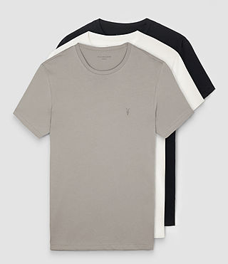 Hombres Tonic Crew T-Shirt 3 Pack (STEEPLE/CHALK/BLCK)