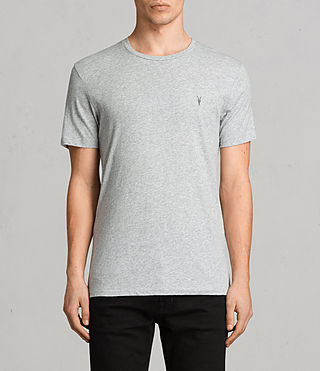 Men's Tonic Crew T-Shirt 3 Pack (CHALK/BLACK/GREY) - Image 4
