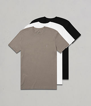 Mens Tonic Crew T-Shirt 3 Pack (KHAKI/WHITE/BLACK) - product_image_alt_text_1