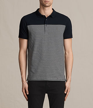 Hombres Breton Tonic Polo Shirt (INK NAVY/CHALK WHT) -