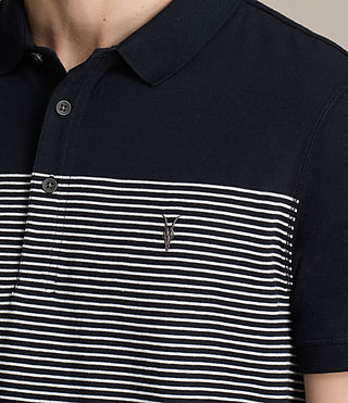 Hombres Breton Tonic Polo Shirt (INK NAVY/CHALK WHT) - product_image_alt_text_2
