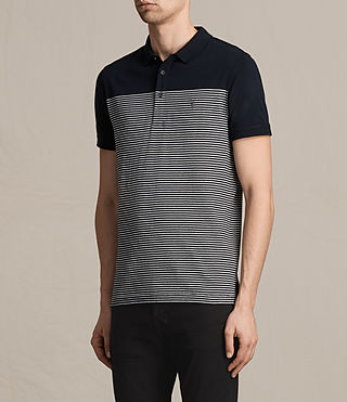 Hombres Breton Tonic Polo Shirt (INK NAVY/CHALK WHT) - product_image_alt_text_3