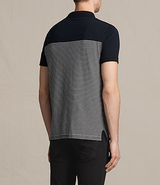 Hombres Breton Tonic Polo Shirt (INK NAVY/CHALK WHT) - product_image_alt_text_4