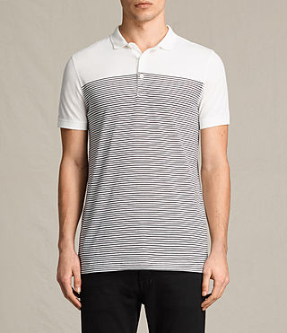 Mens Breton Tonic Polo Shirt (CHALK WHITE/INK) - product_image_alt_text_1