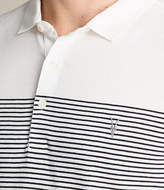 Men's Breton Tonic Polo Shirt (CHALK WHITE/INK) - product_image_alt_text_2