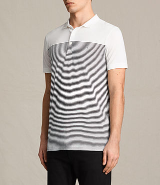 Men's Breton Tonic Polo Shirt (CHALK WHITE/INK) - product_image_alt_text_3