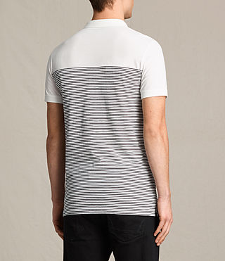 Men's Breton Tonic Polo Shirt (CHALK WHITE/INK) - product_image_alt_text_4