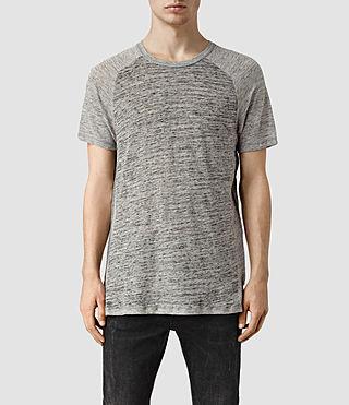 Mens Austin Crew T-Shirt (Grey Marl/Grey) - product_image_alt_text_1