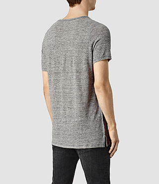 Mens Austin Crew T-Shirt (Grey Marl/Grey) - product_image_alt_text_3