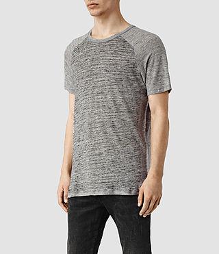 Hombres Austin Crew T-Shirt (GreyMarl/Grey) - product_image_alt_text_2