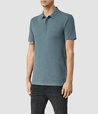 Hommes Tonic Panel Polo Shirt (DeepOcean Blue Mrl) - product_image_alt_text_2