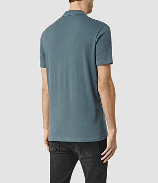 Hommes Tonic Panel Polo Shirt (DeepOcean Blue Mrl) - product_image_alt_text_3