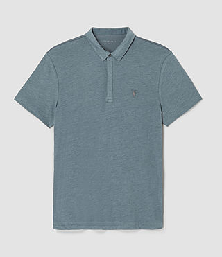 Hommes Tonic Panel Polo Shirt (DeepOcean Blue Mrl) - product_image_alt_text_4