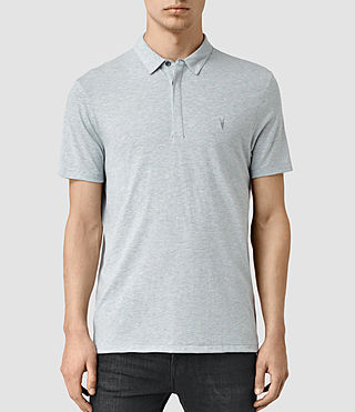 Hombres Tonic Panel Polo Shirt (MIRAGE BLUE)