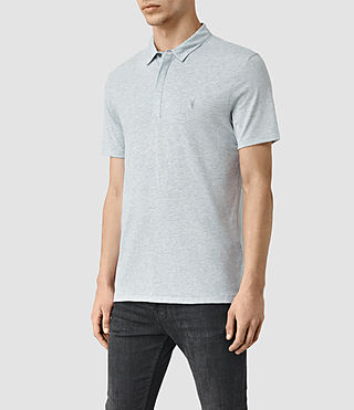 Hombres Tonic Panel Polo Shirt (MIRAGE BLUE) - product_image_alt_text_2