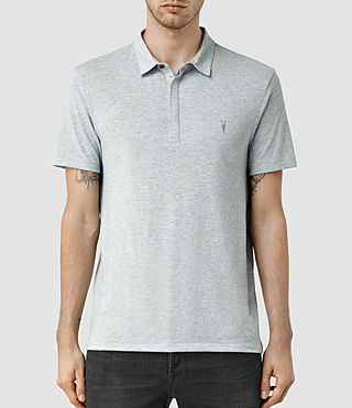 Uomo Tonic Panel Polo Shirt (MIRAGE BLUE MARL) -