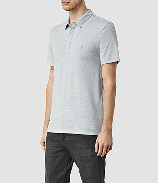 Uomo Tonic Panel Polo Shirt (MIRAGE BLUE MARL) - product_image_alt_text_2