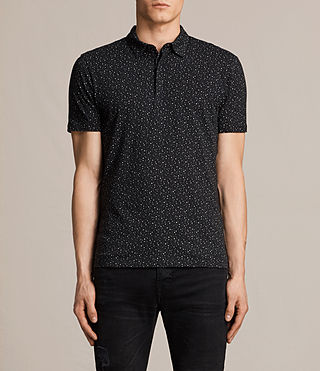 Mens Argo Polo Shirt (BLACK/CHALK) - product_image_alt_text_1