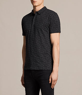 Mens Argo Polo Shirt (BLACK/CHALK) - product_image_alt_text_3