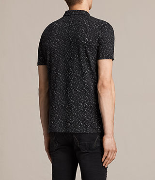 Hombres Argo Polo Shirt (Black/Chalk) - product_image_alt_text_4