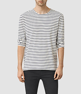 Uomo Minala 3/4 Sleeve Crew T-Shirt (Chalk/Ink)
