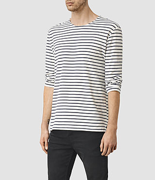 Uomo Minala 3/4 Sleeve Crew T-Shirt (Chalk/Ink) - product_image_alt_text_3
