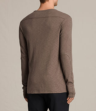 Mens Laoter Long Sleeve Crew T-Shirt (Washed Khaki) - product_image_alt_text_4