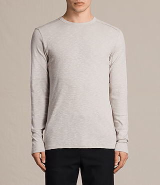 Men's Laoter Long Sleeve Crew T-Shirt (Ash Grey) -