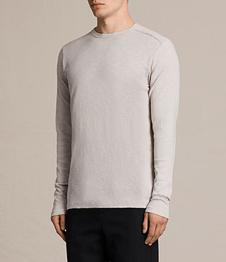 Mens Laoter Long Sleeve Crew T-Shirt (Ash Grey) - product_image_alt_text_2