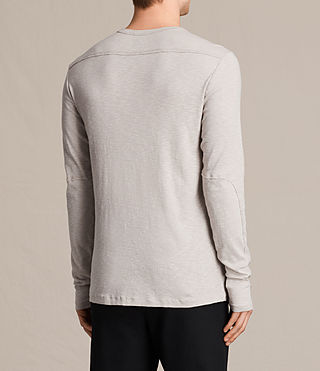 Mens Laoter Long Sleeve Crew T-Shirt (Ash Grey) - product_image_alt_text_3