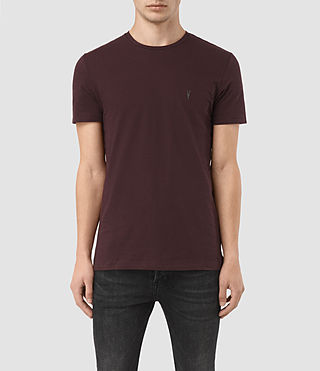 Men's Bali Tonic Crew T-Shirt (Damson Red) -
