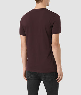 Uomo Bali Tonic Crew T-Shirt (Damson Red) - product_image_alt_text_3