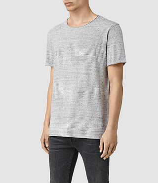 Hombre Warn Stripe Crew T-Shirt (MIRAGE BLU/GRY MRL) - product_image_alt_text_3
