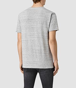 Hombre Warn Stripe Crew T-Shirt (MIRAGE BLU/GRY MRL) - product_image_alt_text_4