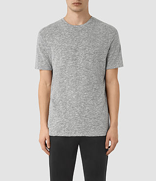 Mens Schans Crew T-Shirt (Charcoal Marl) - product_image_alt_text_1