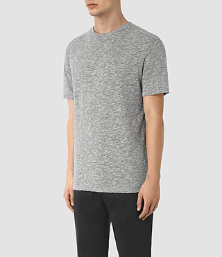Men's Schans Crew T-Shirt (Charcoal Marl) - product_image_alt_text_2