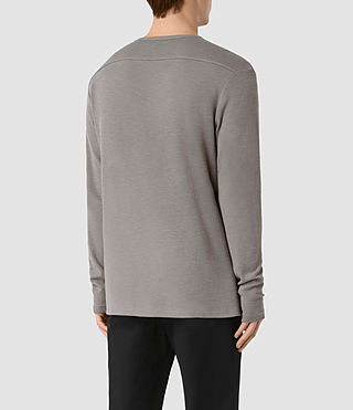 Mens Seymor Long Sleeve Crew T-Shirt (Putty Brown) - product_image_alt_text_3
