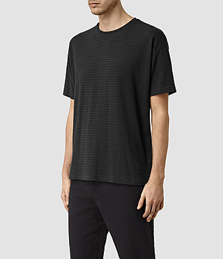 Men's Slammers Crew T-Shirt (Washed Black) - product_image_alt_text_2