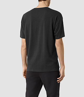 Men's Slammers Crew T-Shirt (Washed Black) - product_image_alt_text_3
