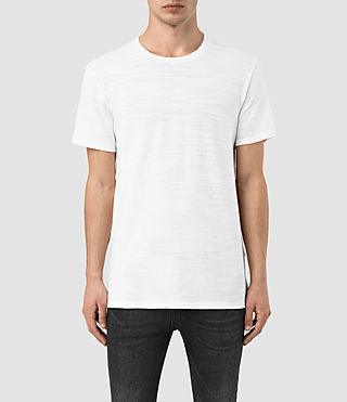 Hombres Orsman Crew T-Shirt (Optic White)