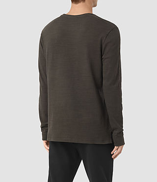 Hombre Orsman Long Sleeve Crew T-Shirt (Khaki Brown) - product_image_alt_text_3