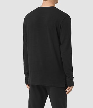 Mens Orsman Long Sleeve Crew T-Shirt (Jet Black) - product_image_alt_text_3