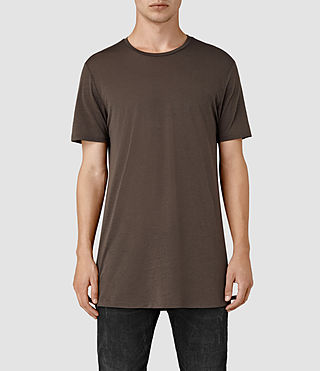 Hombres Tower Crew T-Shirt (Pewter Brown)