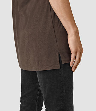 Uomo Tower Crew T-Shirt (Pewter Brown) - product_image_alt_text_2