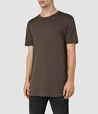 Uomo Tower Crew T-Shirt (Pewter Brown) - product_image_alt_text_3
