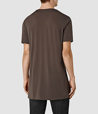 Uomo Tower Crew T-Shirt (Pewter Brown) - product_image_alt_text_4