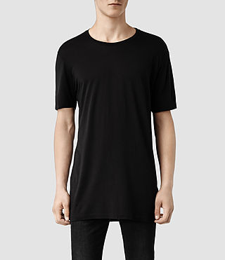 Hombre Tower Crew T-Shirt (Black) - product_image_alt_text_1